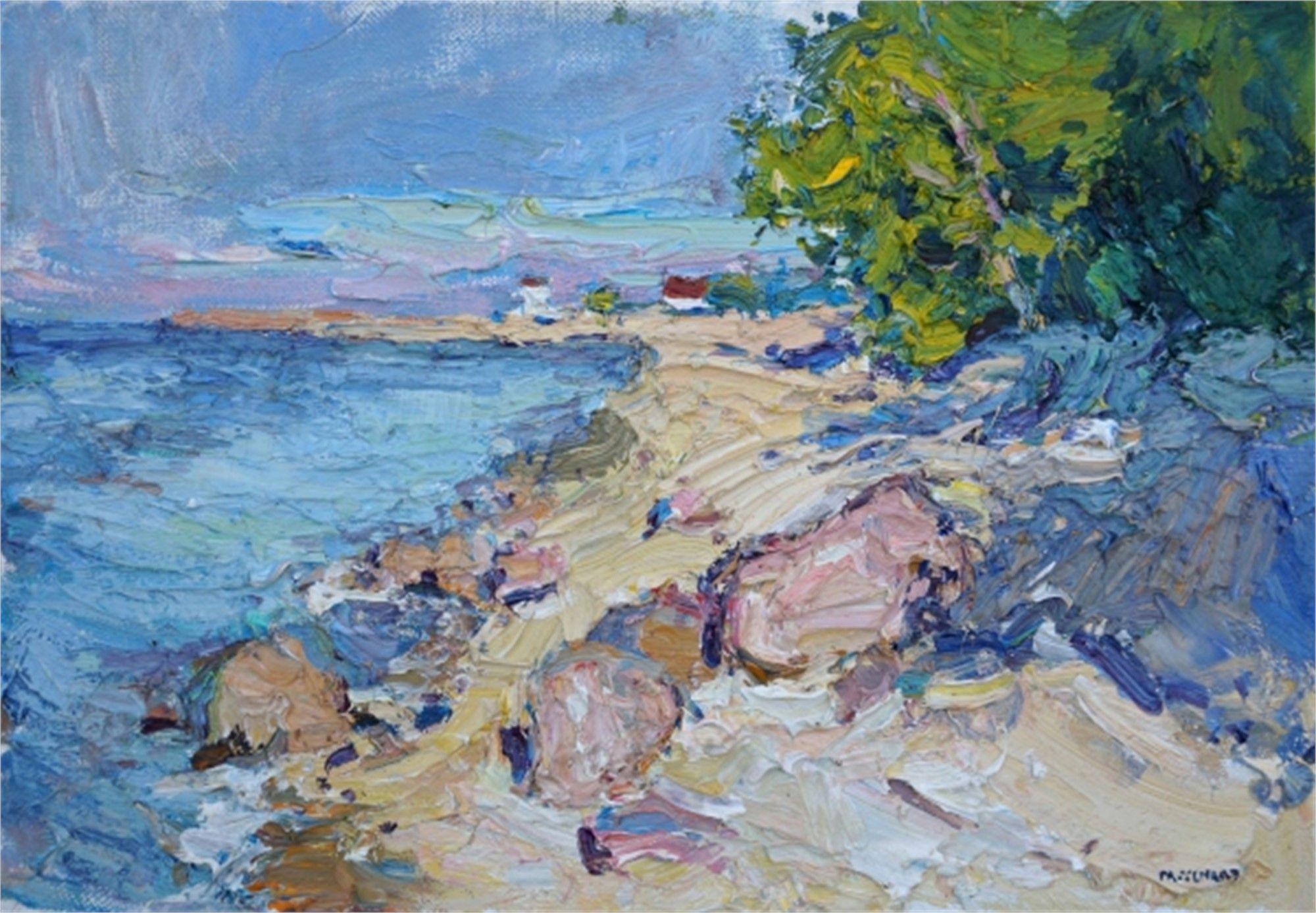 Evening In Toila Original Oil By Antonin Passemard Painting Art Fine Art