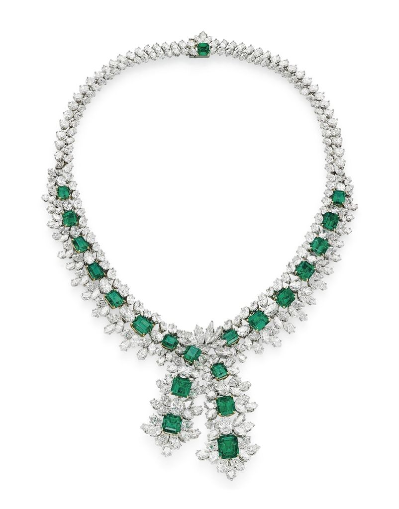 An emerald and diamond necklace christies dazzling diamond jewelry