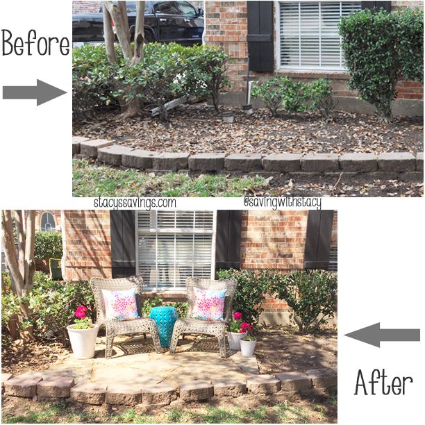yard design ideas - front patio! i love the idea of a low wall ... - Front Yard Patio Designs