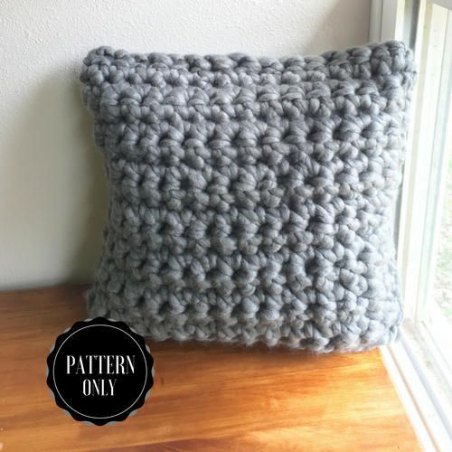 Chunky Finger Crochet Pillow Pattern Chunky Crochet Pattern Crafts