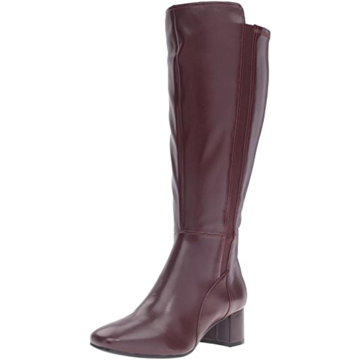 Naturalizer Womens Naples Faux Leather Knee-High Boots