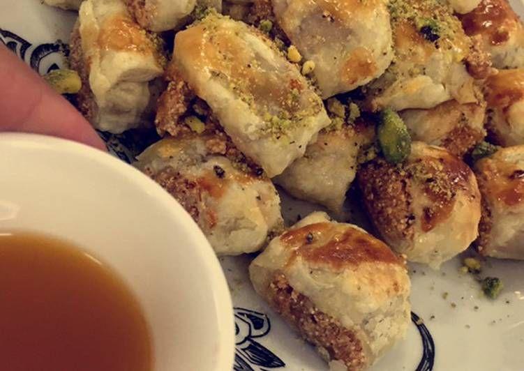 بقلاوه بالبف باستري بالصور من ابتسام بنت عبدالله Recipe Food Meat Chicken