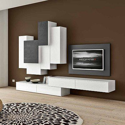 Contemporary Tv Unit Composition Amex By Favero Features 2 Wooden