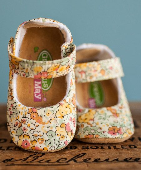 Gracious May Yellow & Pink Liberty of London Claire Aude Mary Jane | zulily