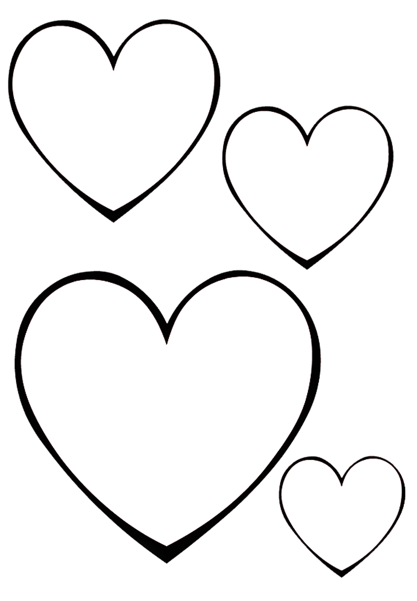 coeurs - Black Confetti en 28  Coloriage coeur, Coloriage