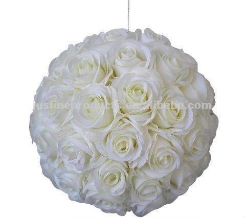 7 5 Decorative Artificial Flower Ball Artificial Hanging Flower Ball White Rose Flower Ball Festa