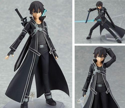 SAO Sword Art Online Kirigaya Kazuto Kirito Figma PVC Action Figure #174 No Box