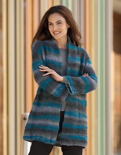 chaqueta lana mujer corto azul