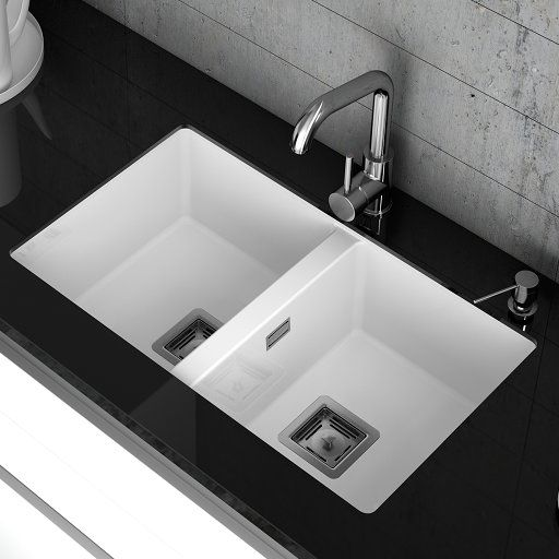 You Ll Love The Zie 75cm X 45cm Double Bowl Undermount Kitchen Sink At Wayfa Undermount Kitchen Sinks Double Bowl Undermount Kitchen Sink Ceramic Kitchen Sinks