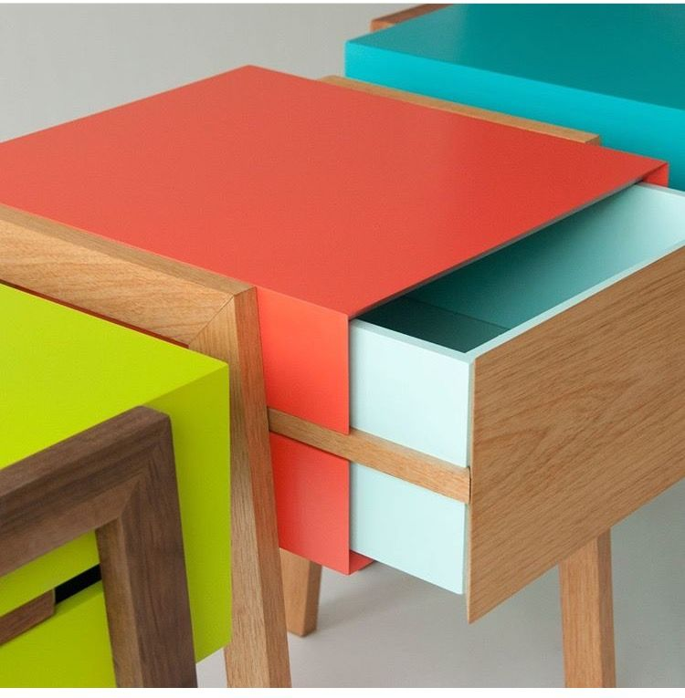 Colorful Side Table Night Stand