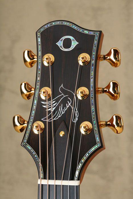 James Olson Acoustic Guitar Headstock Guitar Inlay Guitar Tuners Acoustic Guitar