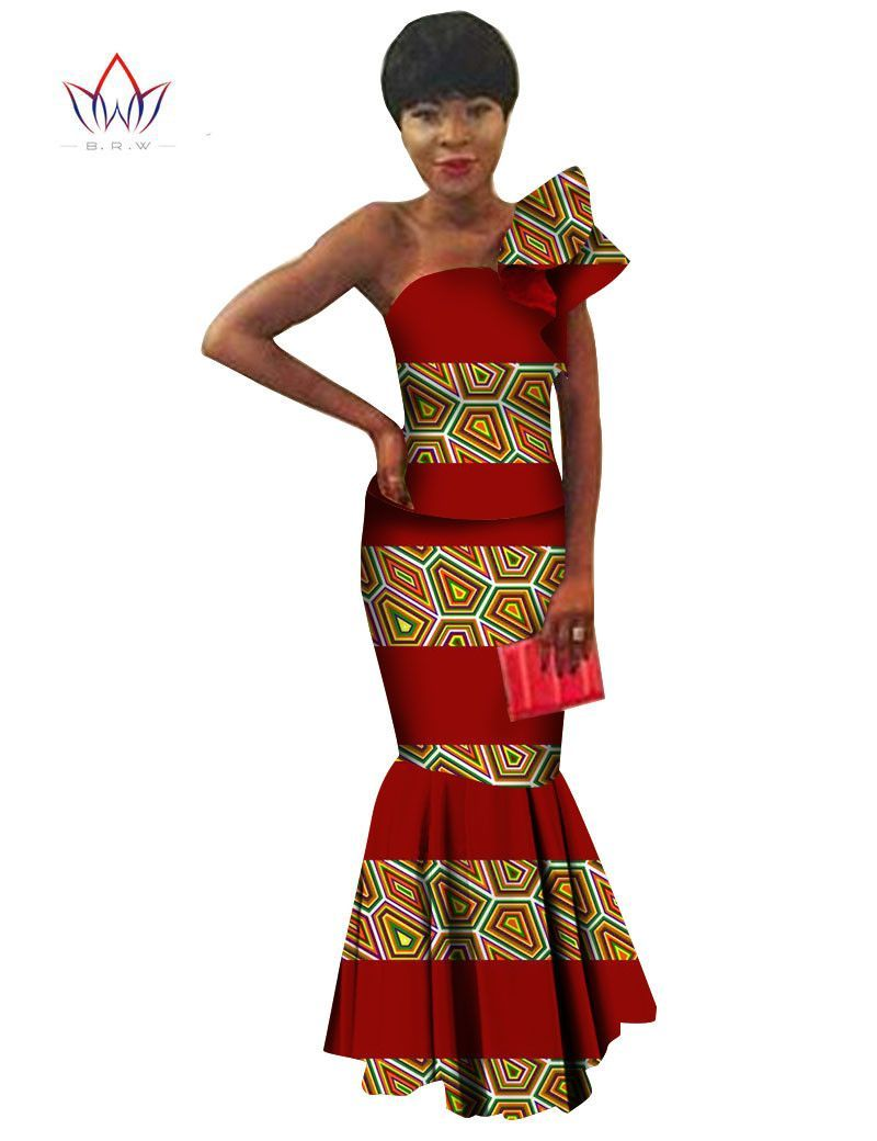 African Clothing for Women Wedding Brand Set African Women Clothing Bodycon Skirt Set Women Custom Women Two Piece SetsWY233