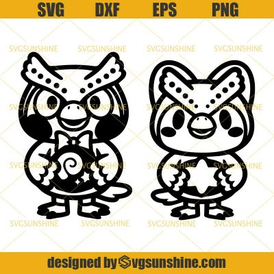 Blathers and Celeste Bundle SVG, Animal Crossing Cute SVG