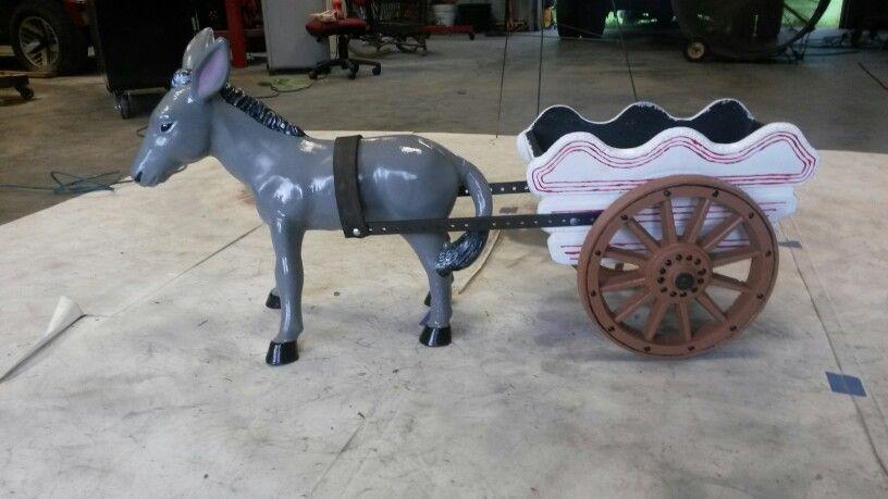 Concrete Donkey With Cart Outdoor Decor Donkey Cart Dog Rooms