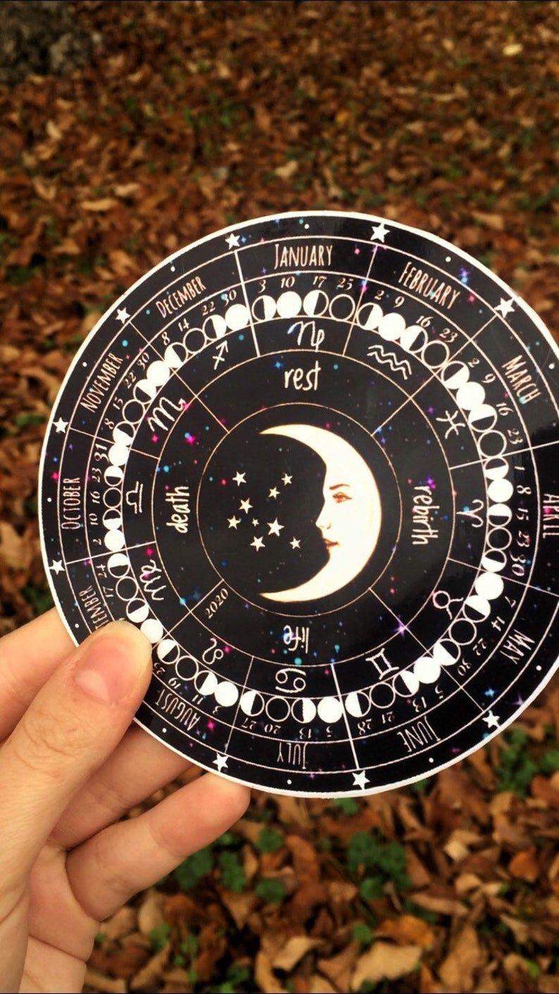 Moon Calendar 2020 Lunar calendar zodiac calendar Szablony