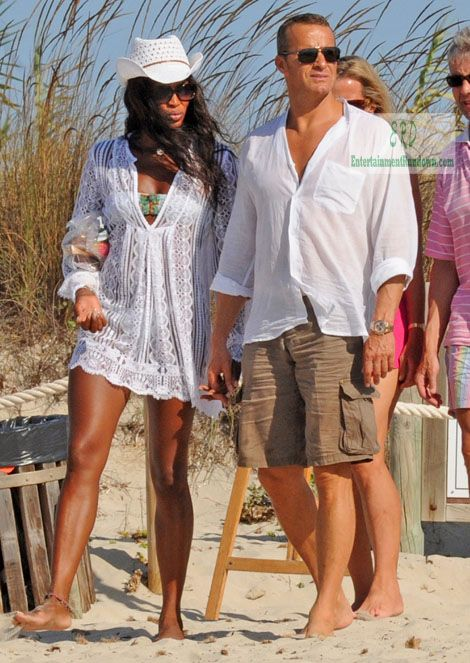 Naomi Campbell Celebrity Beachwear Beachstyle Vacation