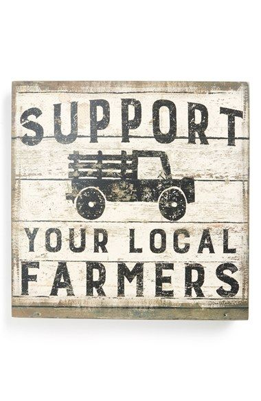 Primitives by Kathy 'Support Your Local Farmers' Box Sign available at #Nordstrom