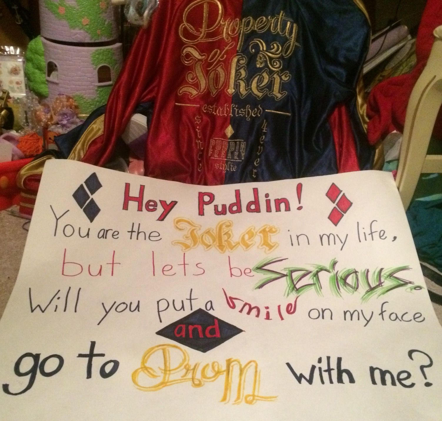 Harley quinn promposal promposal pinterest promposal prom and