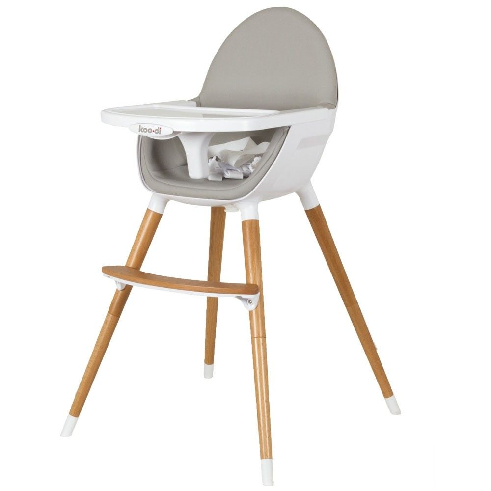 Koo Di Highchair Grey For Small Wooden High Chairs Toddler