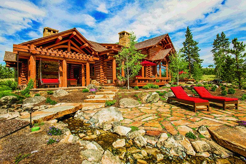 A Montana Mountain Retreat Log homes exterior, Log homes