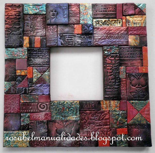 Rosabel manualidades: Marcos decorados con arcilla polimérica ...
