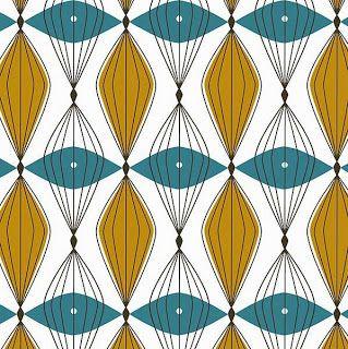 Rachel Cave Design Mid Century Modern Fabric Mid Century Modern Patterns Mid Century Colors Mid century modern fabric reproductions