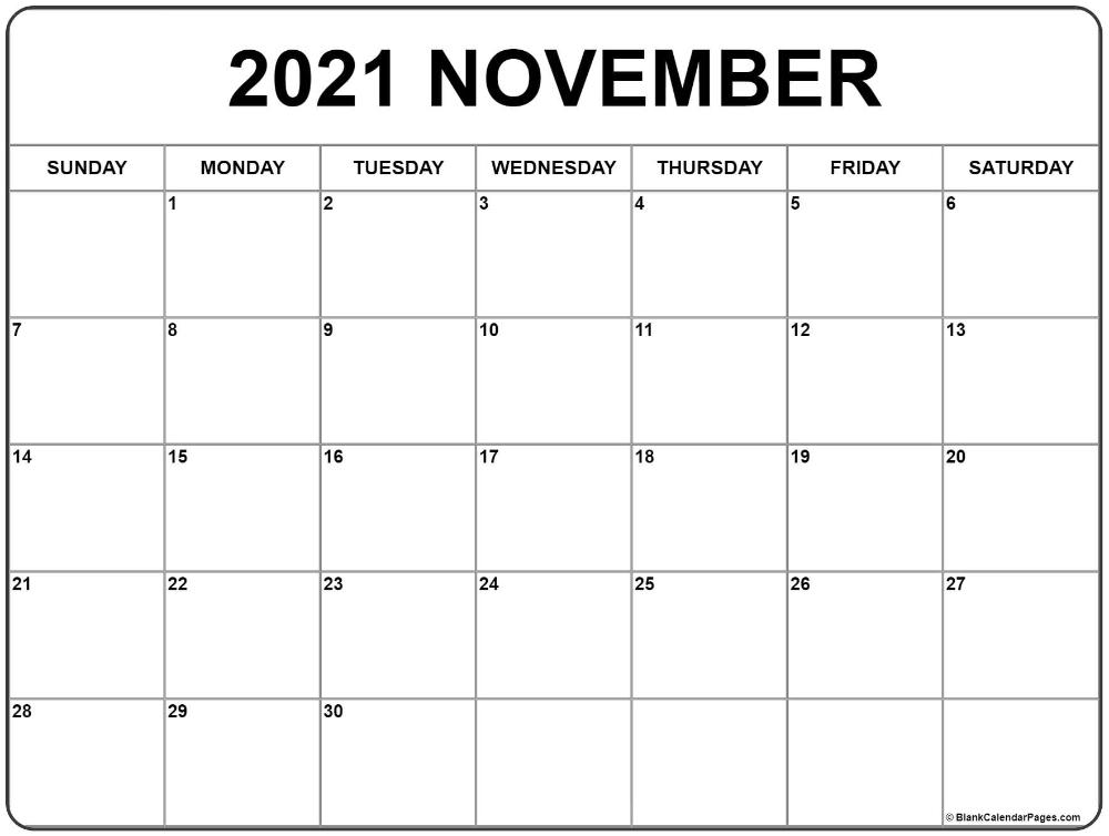 20+ 2021 November Calendar - Free Download Printable ...