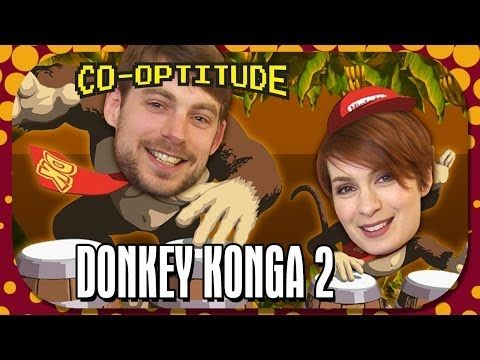 Donkey Konga 2 Let's Play: Co-Optitude Ep 46 | Geek and Sundry #cooptitude #geekandsundry #donkeykonga #geeks #nerds #gaming #gamers #feliciaday #ryonday #videogames