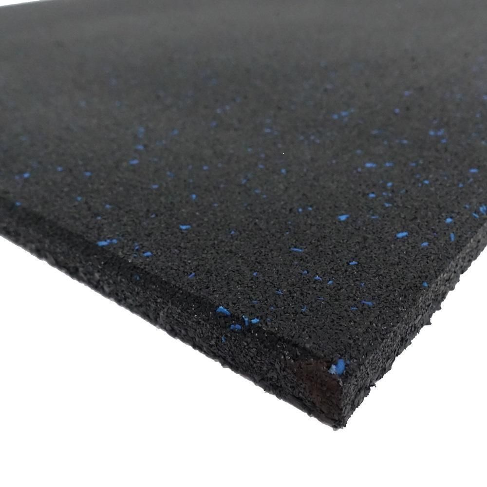 Home Fitness Rubber Flooring Tile 1m X 1m X 15mm With 6 Blue