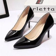 2016 Europa fashion PU scarpe tacchi alti bocca superficiale delle donne scarpe col tacco alto high-end temperamento basso per aiutare scarpe(China (Mainland))