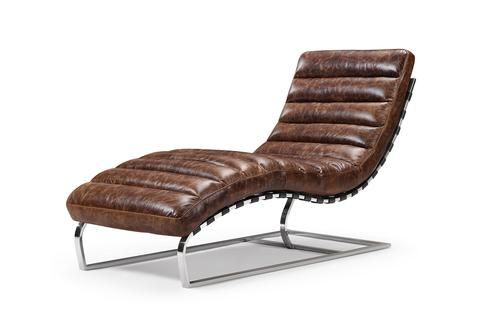 Leather Chaise Lounge Rose Moore