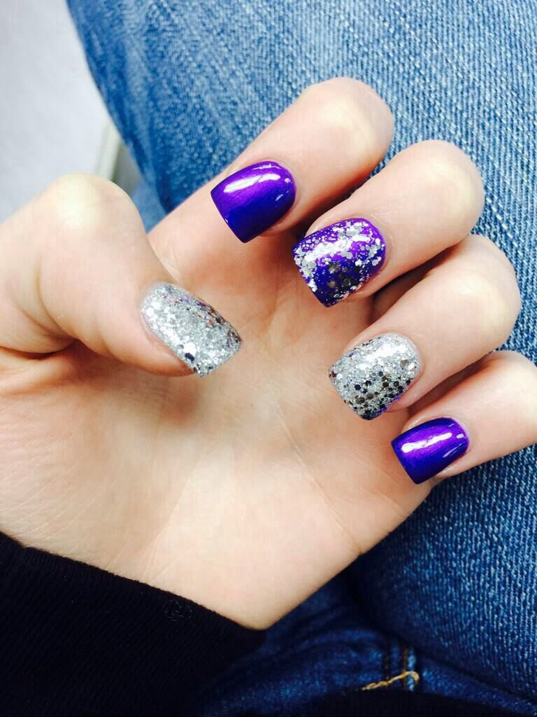 Purple and silver nails for prom (maybe still cant decide ...