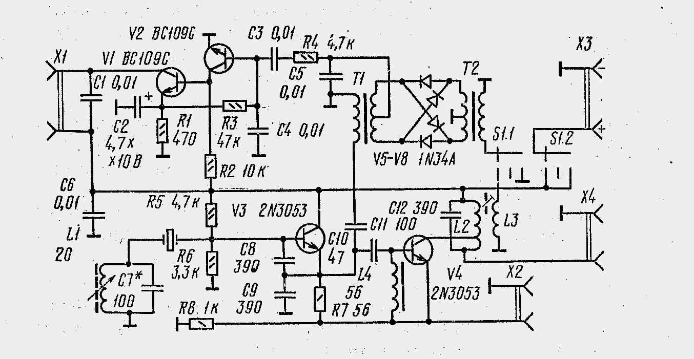 amateur radio blog the circuit of simple amateur radio qrp cw transceiver [ 1354 x 701 Pixel ]