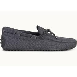 Tod's – Gommino Mokassins aus Wolle, Grau,schwarz, 6.5 – Shoes Tod'sTod's