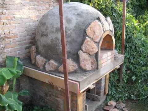 Construccion de horno de piedra barro y ladrillo en - Hornos a lena construccion ...