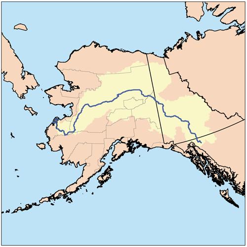 Yukon River GeologyPage River Pinterest Rivers - Yukon river world map