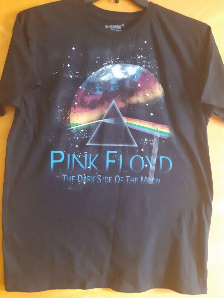 PINK FLOYD DARK SIDE OF THE MOON 2 Lady 3//4 Sleeve Black T-shirt Rock Band Tee