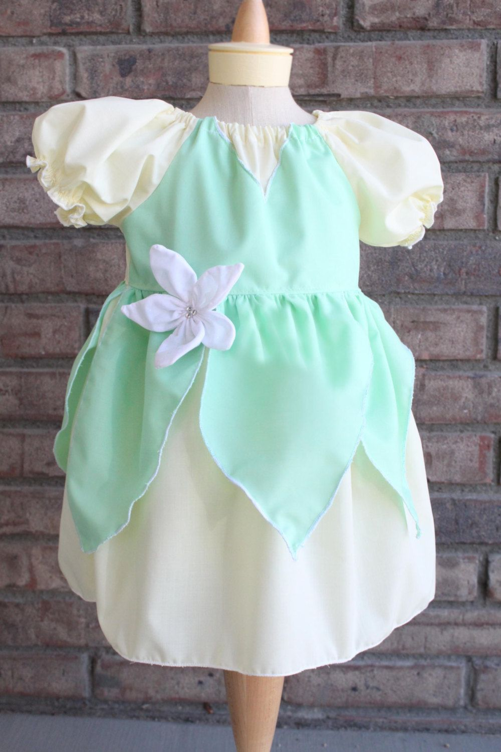 Princess and the Frog Tiana inspired peasant dress 6mos- 3t Custom ...