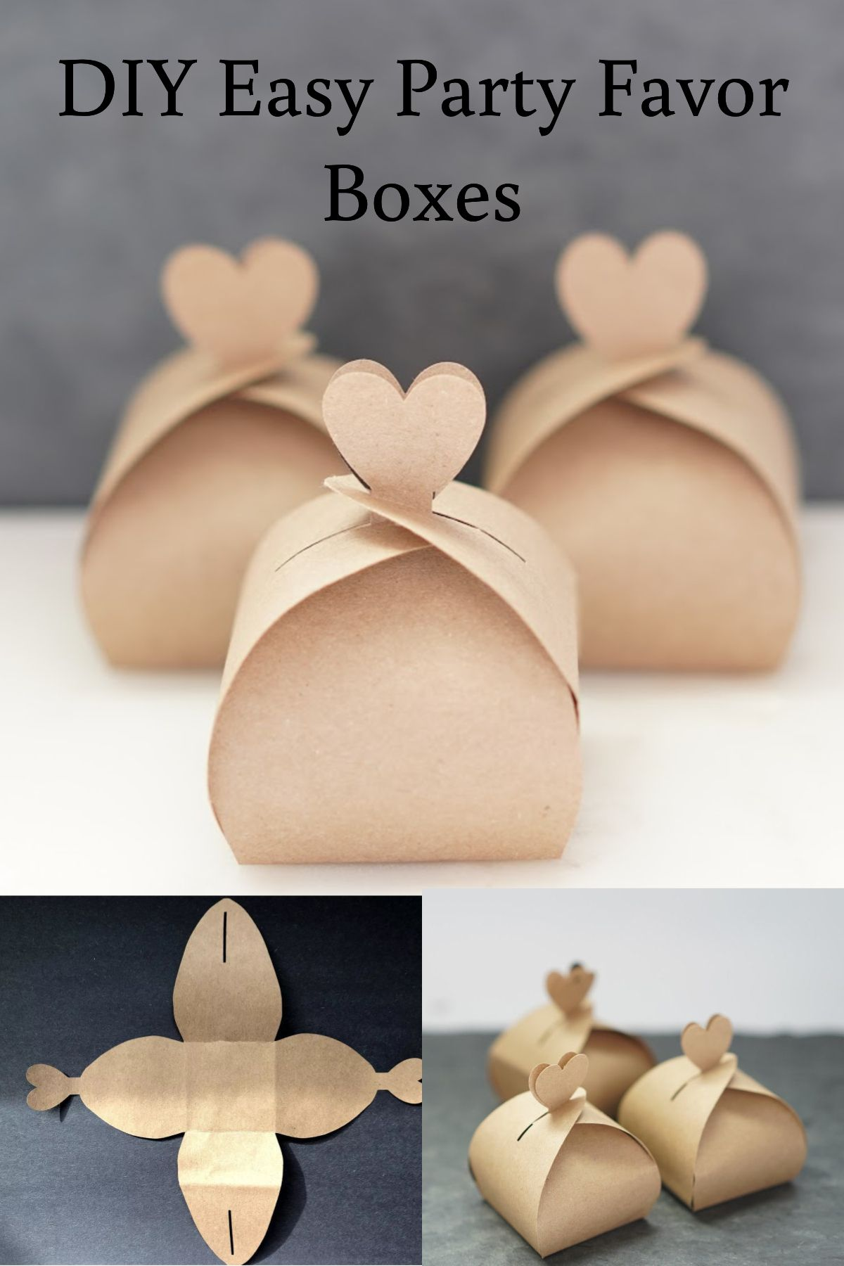 DIY Wedding on a budget, free favors box with template