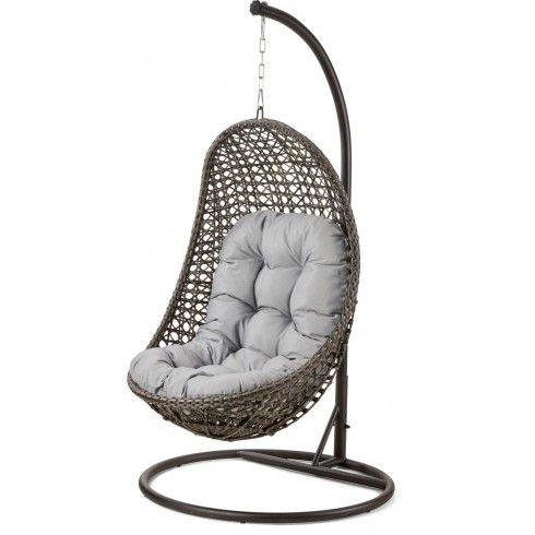Maze Rattan Garden Furniture Malibu Grey Outdoor Hanging Chair | MY ...