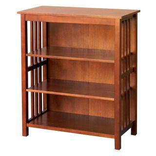 Hollydale 36 Inch Chestnut Bookcase Bookcase Shelves 3 Shelf