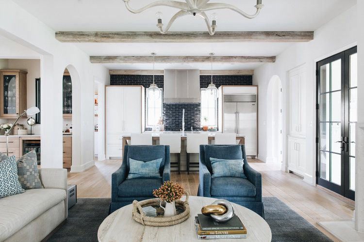 Ginko Project Kate Marker Interiors Transitional Living Rooms
