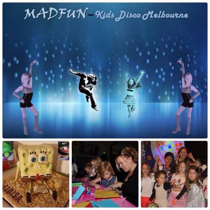 A Collage Of Kids Birthday Party In Melbourne Organized By MADFUN - Children's birthday parties melbourne
