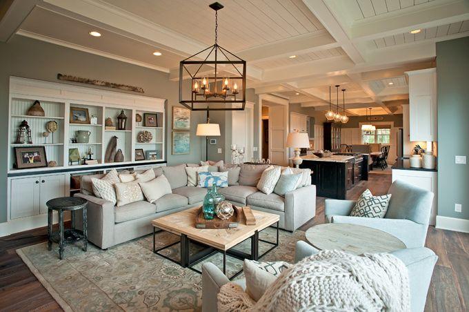 coastal family room KP Designs and Associates