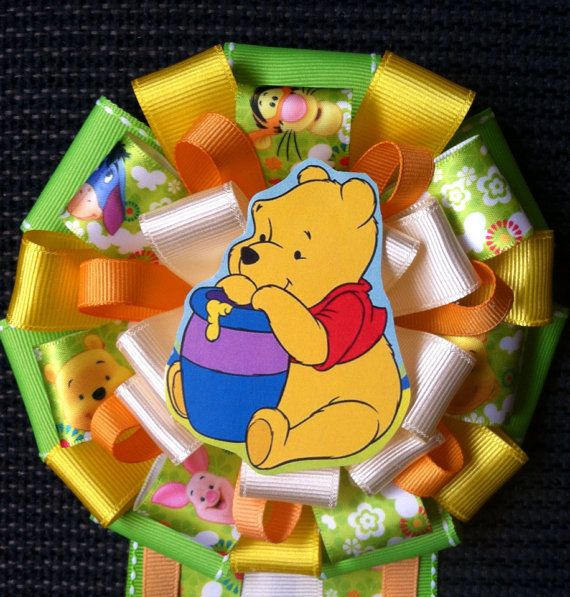 Winnie The Pooh Baby Shower Corsage On Etsy 25 00 Modern Mums