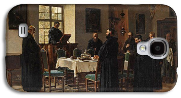 Refectory Galaxy S4 Cases - Monks in the Refectory Galaxy S4 Case by Wilhelm Riefstahl
