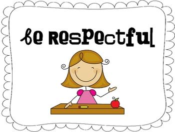 This FREE packet includes 4 positive behavior support posters to display in your classroom.-Be respectful.-Be responsible.-Be prepared.or...