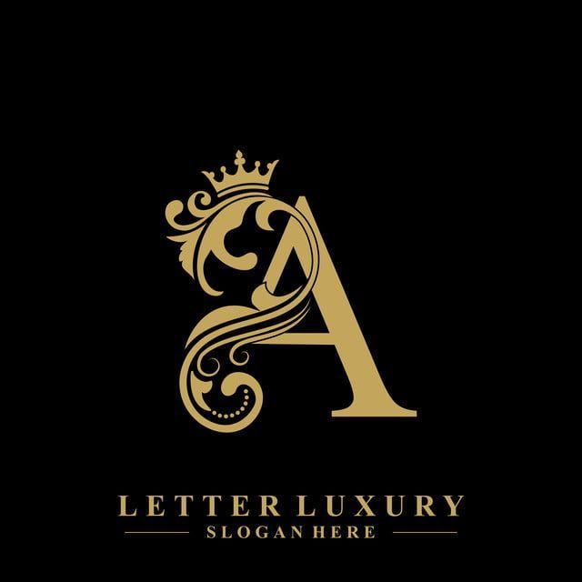 Initial Letter A Luxury Beauty