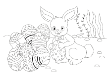 ausmalbilder ostern osterhase ostereier | osterhasen bilder zum ausmalen, ausmalbilder, osterhase