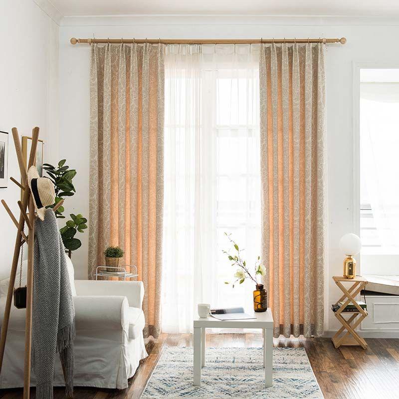 Vorhang Verdunkelung Blätter Design für Schlafzimmer (1er ...